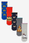 Next 5 Pack Cotton Rich Socks (Older)