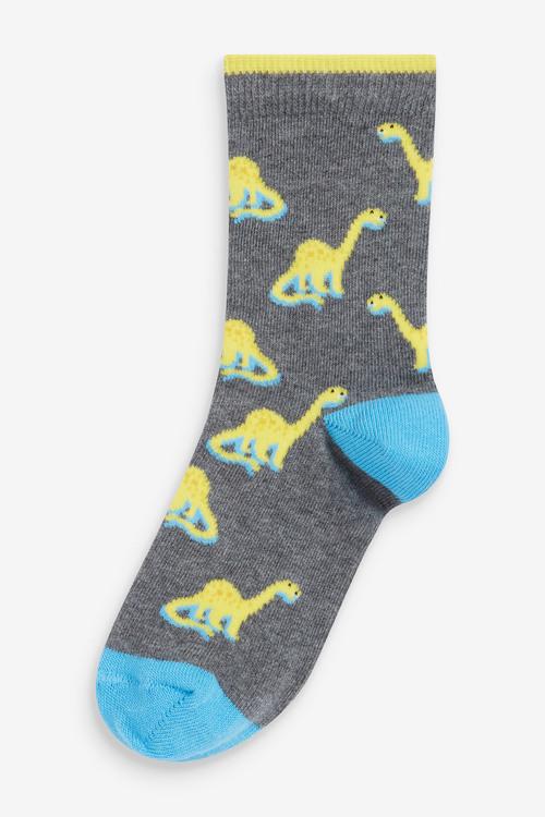Next 7 Pack Cotton Rich Dino Socks (Older)