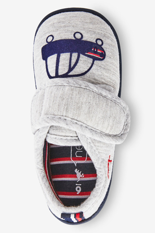 Next Strap Touch Fasten Cupsole Slippers (Younger)