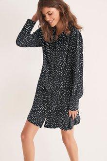 Next Collar Mini Shirt Dress-Regular - 277977