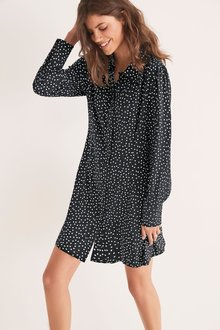 Next Collar Mini Shirt Dress-Tall - 277987
