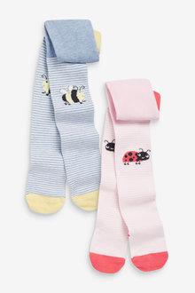 Next 2 Pack Ladybird/Bee Tights - 278022