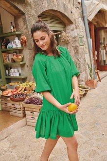 Next Square Neck Tiered Dress-Regular - 278026