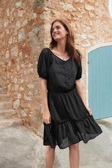 Next Square Neck Dress-Regular - 278032