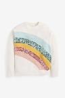 Next Sequin Rainbow Jumper (3-16yrs)