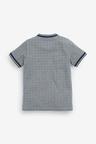 Next Check Baseball Zip Neck Poloshirt (3-16yrs)