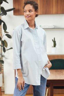 Next Maternity Sleeve Detail Oversized Shirt - 278224