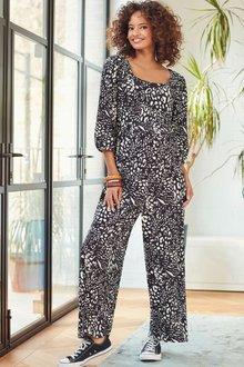 Next Maternity Square Neck Jersey Jumpsuit - 278237