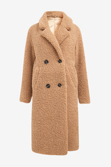 Next Borg Longline Coat - 278239