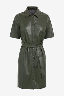 Next Faux Leather Dress - 278248