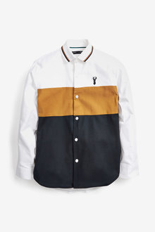 Next Long Sleeve Colourblock Shirt (3-16yrs) - 278258