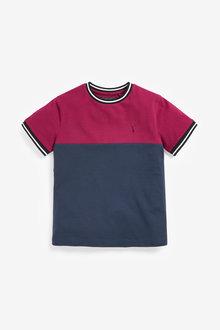 Next Pique Colourblock T-Shirt (3-16yrs) - 278286