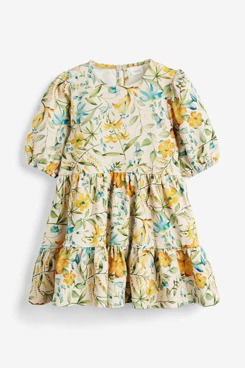 Next Floral Tier Ponte Dress (3mths-7yrs)
