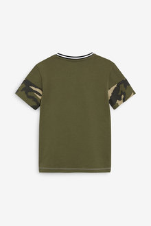 Next Colour Block T-Shirt and Shorts Set (3-16yrs) - 278319