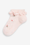 Next 5 Pack Floral Trainer Socks