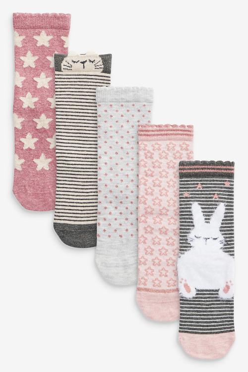 Next 5 Pack Bunny Socks