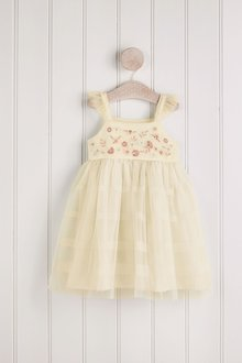 Next Embroidered Mesh Dress (3mths-7yrs) - 278382