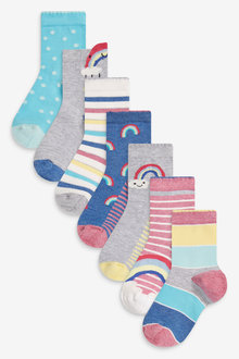Next 7 Pack Rainbow Socks - 278387