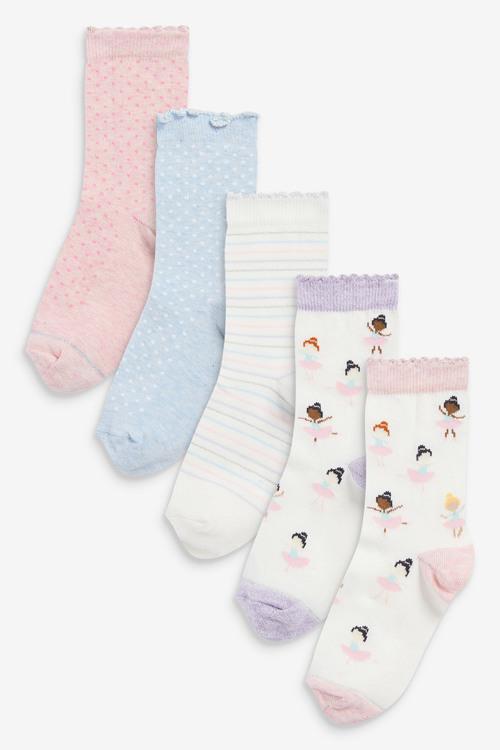 Next 5 Pack Ballerina Ankle Socks