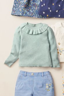 Next Frill Neck Knitted Top (3mths-7yrs) - 278427