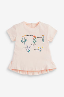 Next Floral Embroidery T-Shirt (3mths-7yrs) - 278464