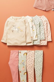 Next 4 Pack Unicorn Organic Cotton T-Shirts (3mths-7yrs) - 278483