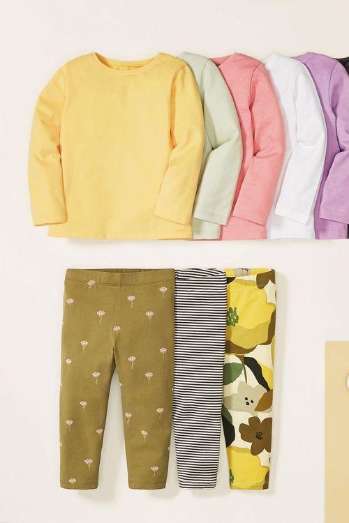 Next 8 Pack GOTS Organic Cotton T-Shirts (3mths-7yrs)