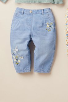 Next Butterfly Pull-On Jeans (3mths-7yrs) - 278511