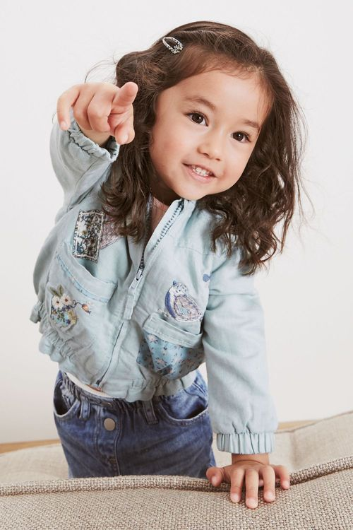 Next Embroidered Patch Bomber Jacket (3mths-7yrs)