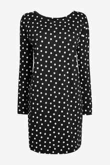 Next Relaxed Long Sleeve T-Shirt Dress-Regular - 278552