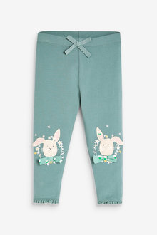 Next GOTS Organic Cotton Embroidered Leggings (3mths-7yrs) - 278554