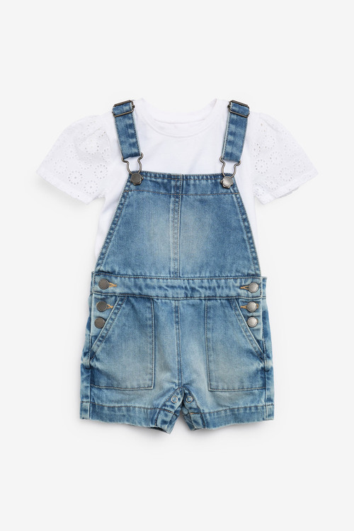 Next 2 Piece Dungaree Set With T-Shirt (3mths-7yrs)
