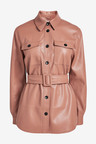 Next Faux Leather Belted Shirt Jacket