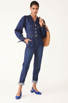 Next Tie Sleeve V-Neck Boilersuit-Tall - 278609