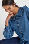 Next Frill Collar Detail Blouse-Regular