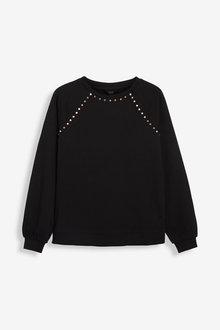 Next Jersey Denim Studded Sweatshirt-Regular - 278699