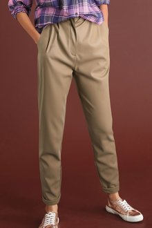 Next Faux Leather PU Taper Trousers - 278714