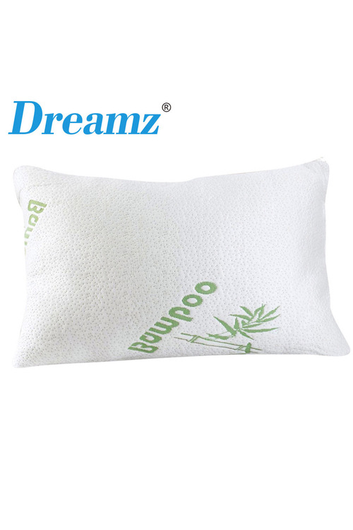 DreamZ 2 Pack Bamboo Memory Foam Pillow and Cover