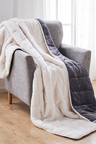 DreamZ 11kg Sherpa and Flannel Weighted Blanket