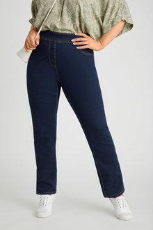 Sara Pull On Straight Leg Jean - 279769