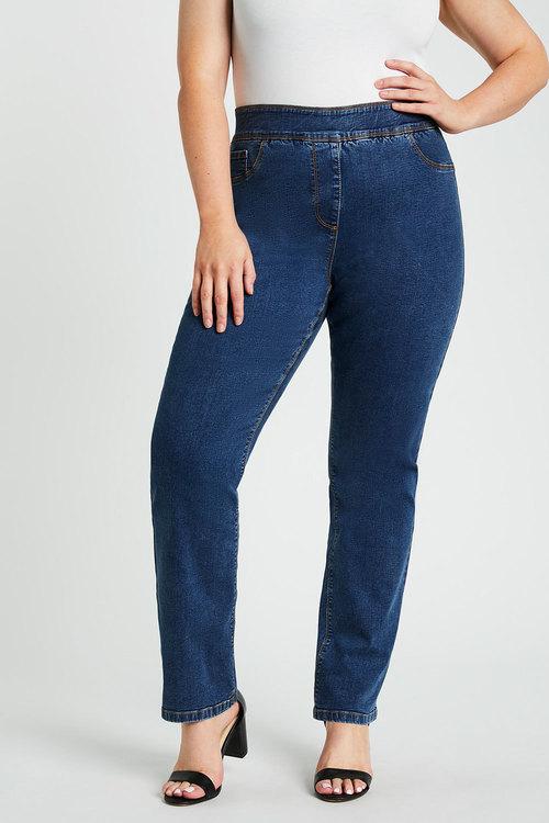Sara Pull On Straight Leg Jean