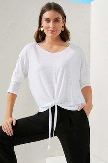 Capture Linen Long Sleeve Tee - 279943