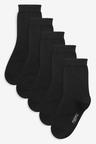 Black 5 Pack Ankle Socks