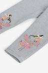 Monochrome Fairy Embroidered Leggings