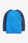 Cobalt Long Sleeve Flippy Sequin T-Shirt