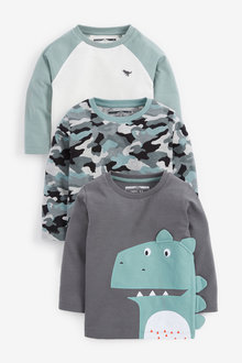 Next Minerals 3 Pack Dino Long Sleeve T-Shirts - 280191