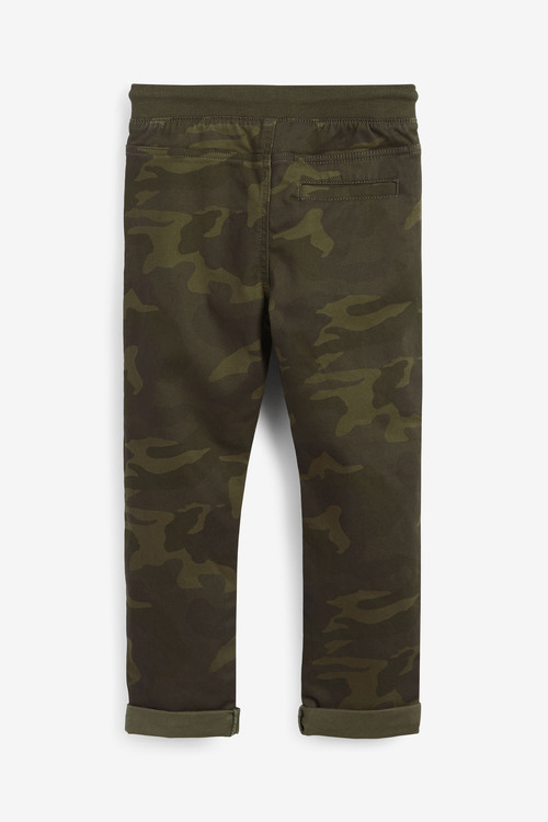 Next Camouflage Regular Fit Rib Waist Pull-On Trousers (5-16yrs)