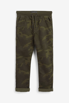 Next Camouflage Regular Fit Rib Waist Pull-On Trousers - 280194