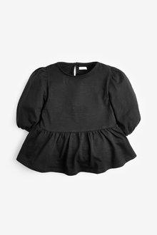 Next Black Puff Sleeve T-Shirt - 280197