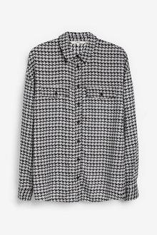 Next Grey Houndstooth Utility Shirt - 280200